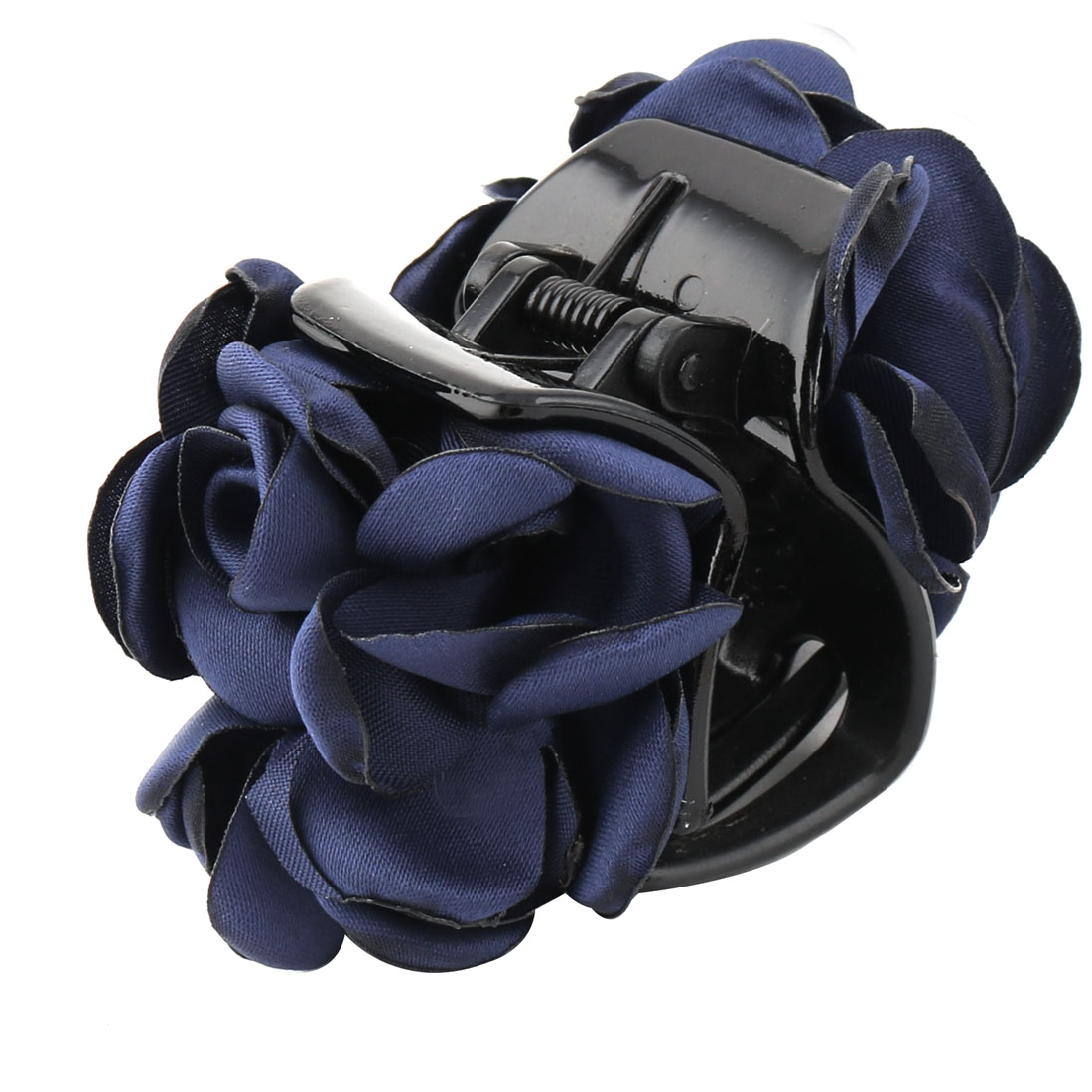 Household Lady Plastic Camellia Flower Decor Hairstyle Hairdressing Hair Claw Dark Blue