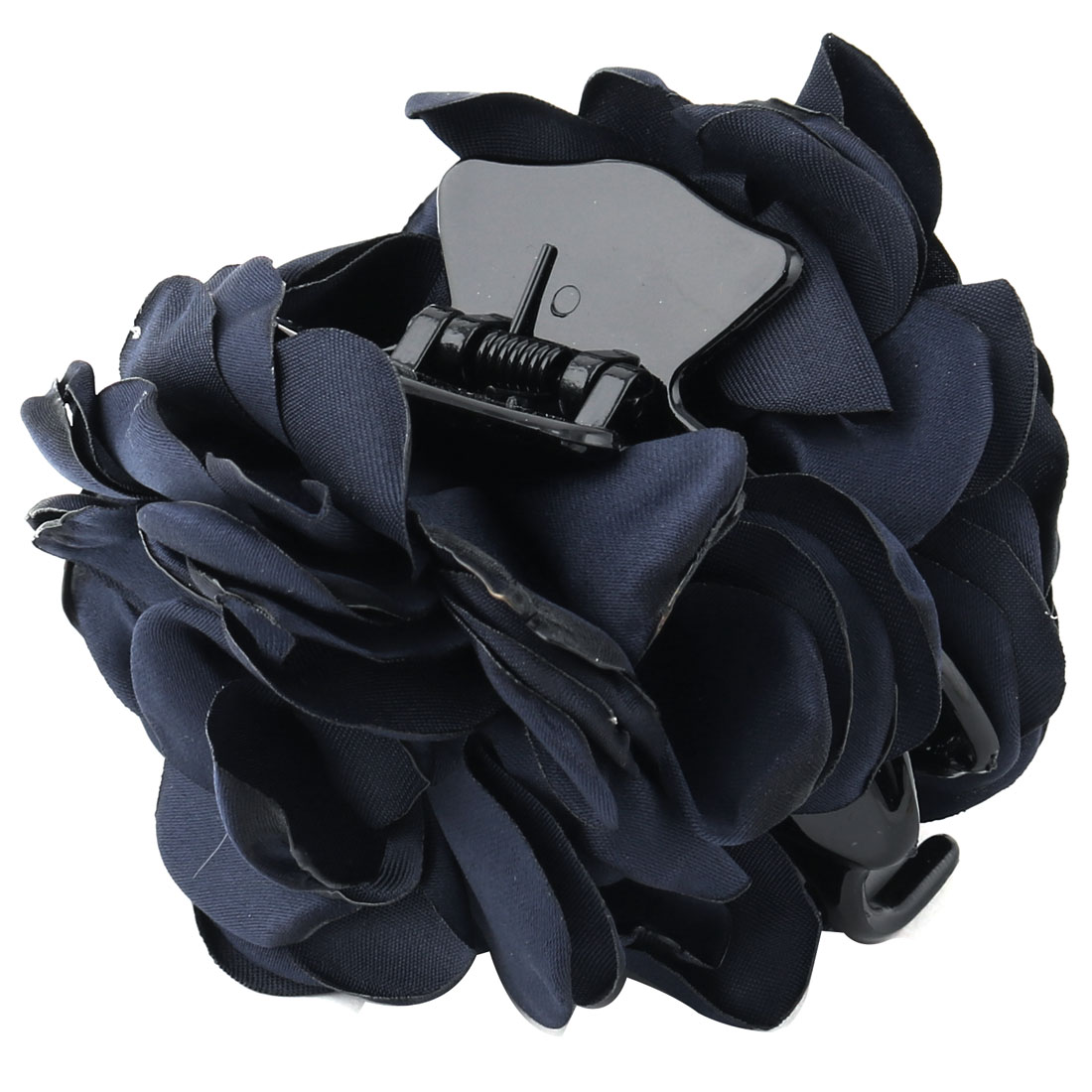 Household Women Hairstyle Accessory Flower Decor Hairdressing Hair Claw Dark Blue