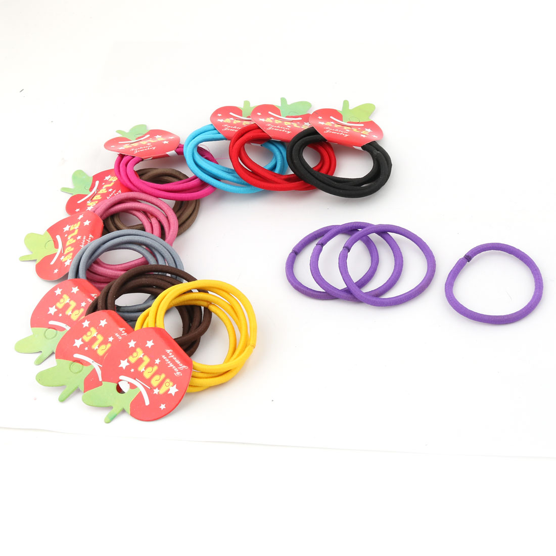 Woman Elastic Hair Band Ties Rope Scrunchie Ponytail Holder Assorted Color 40 PCS