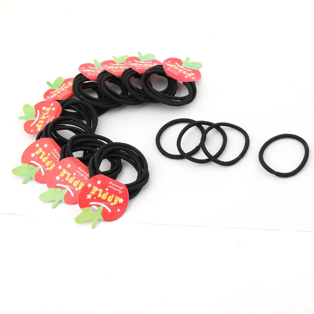 Household Woman Elastic Hair Band Ties Rope Scrunchie Ponytail Holder Black 40 PCS
