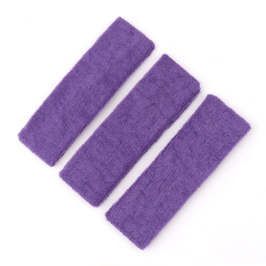 Yoga Sport Running Exercise Elastic Wide Hair Band Sweatband HeadBand Purple 3 PCS