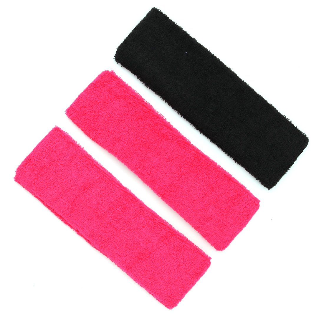 Exercise Yoga Volleyball Running Elastic Healthcare Sweatband HeadBand 3 PCS