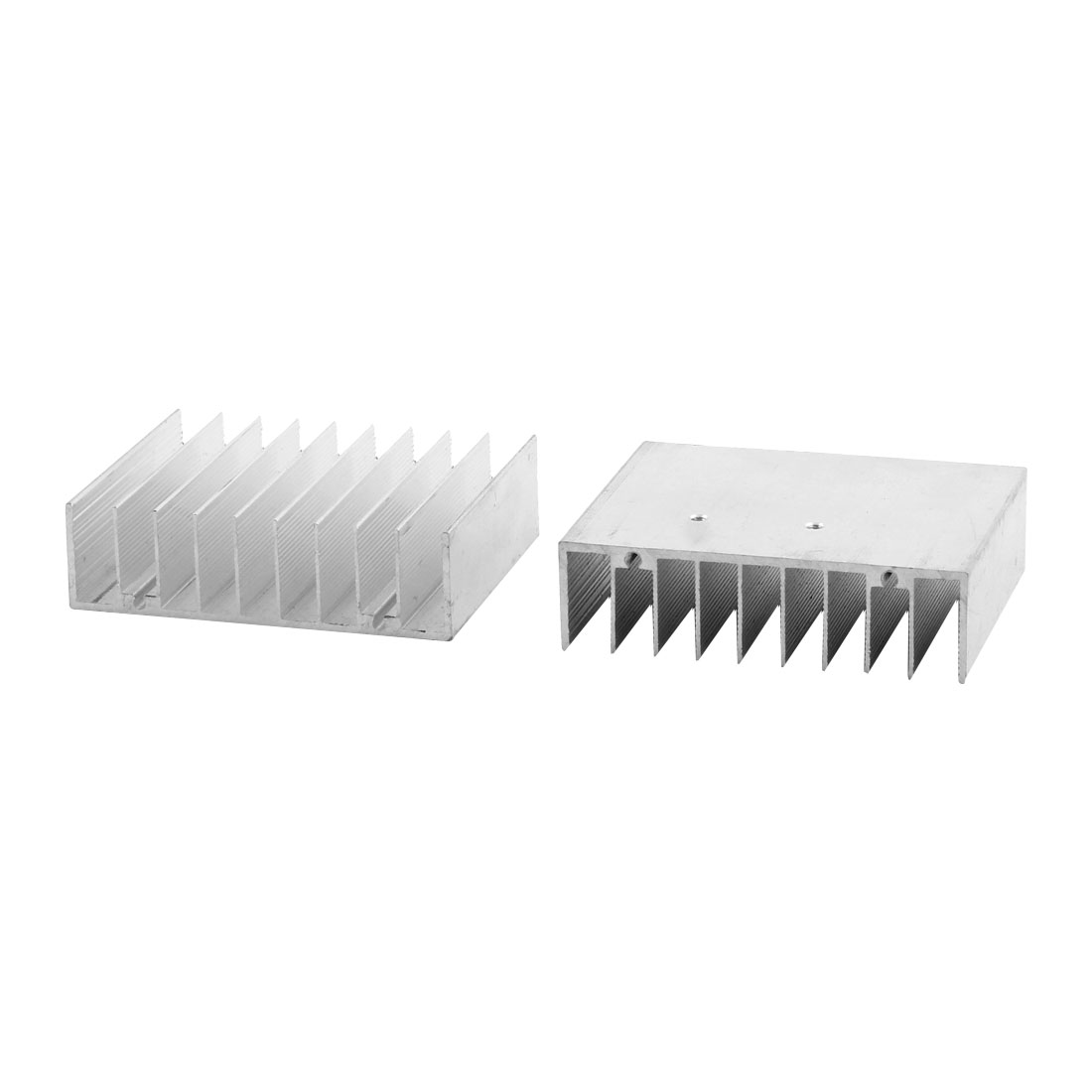 76mmx70mmx22mm Aluminum Screw Mount Heat Sink Cooling Cooler Fin Heatsink Silver Tone 2pcs