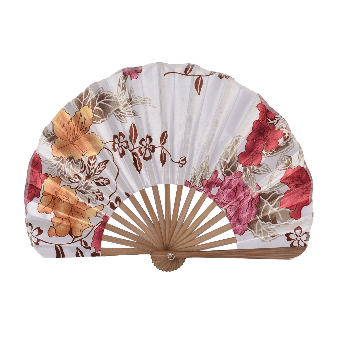 Chinese Bamboo Frame Wash Painting Print Dancing Adornment Folding Handheld Fan