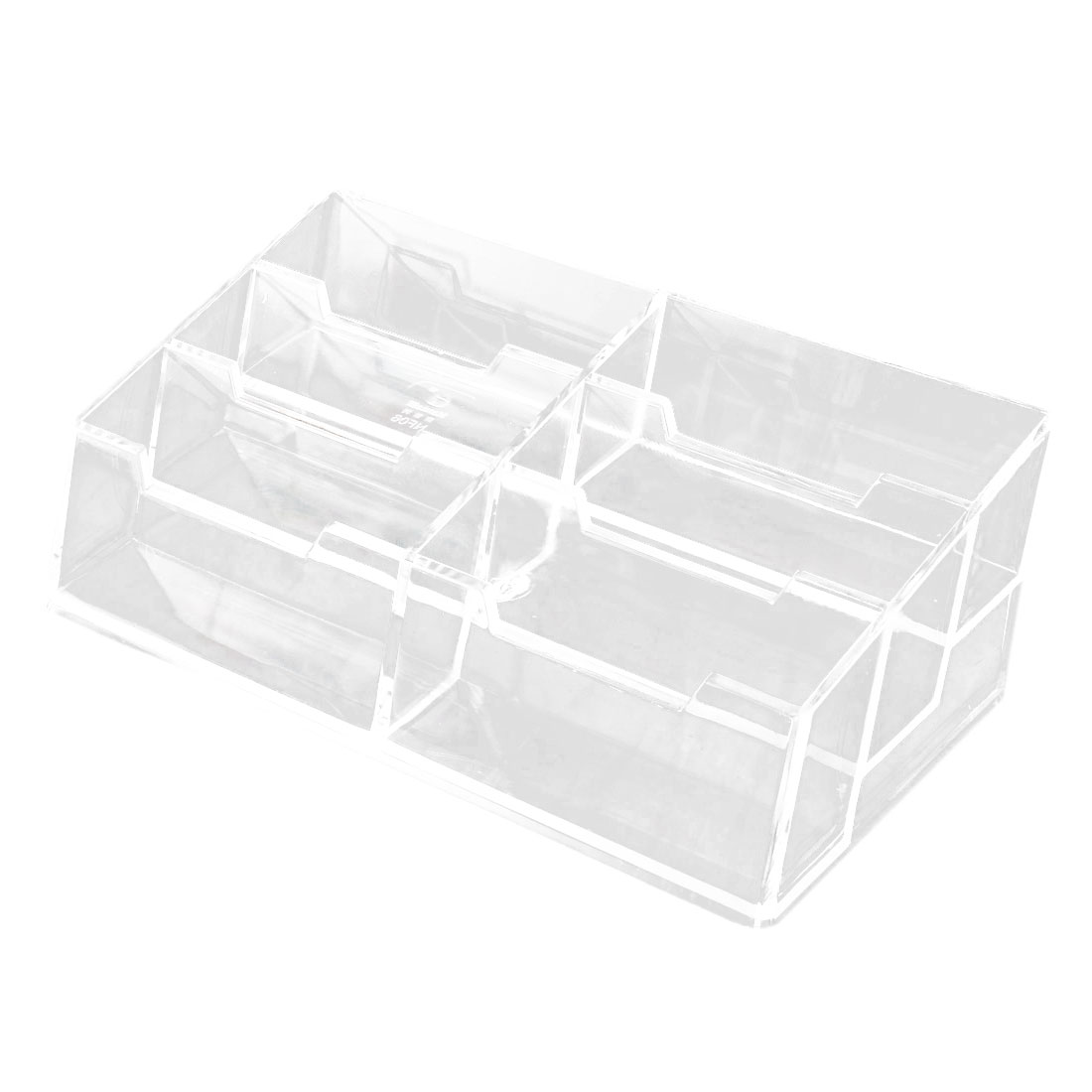 Office Business Plastic 6 Grids Collection Name Business Card Holder Case Clear