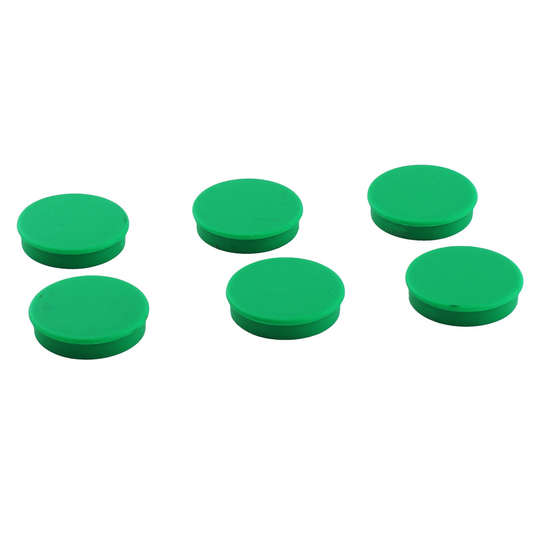 Office Home Plastic Shell Round Shaped Magnet Sticker Green 8pcs