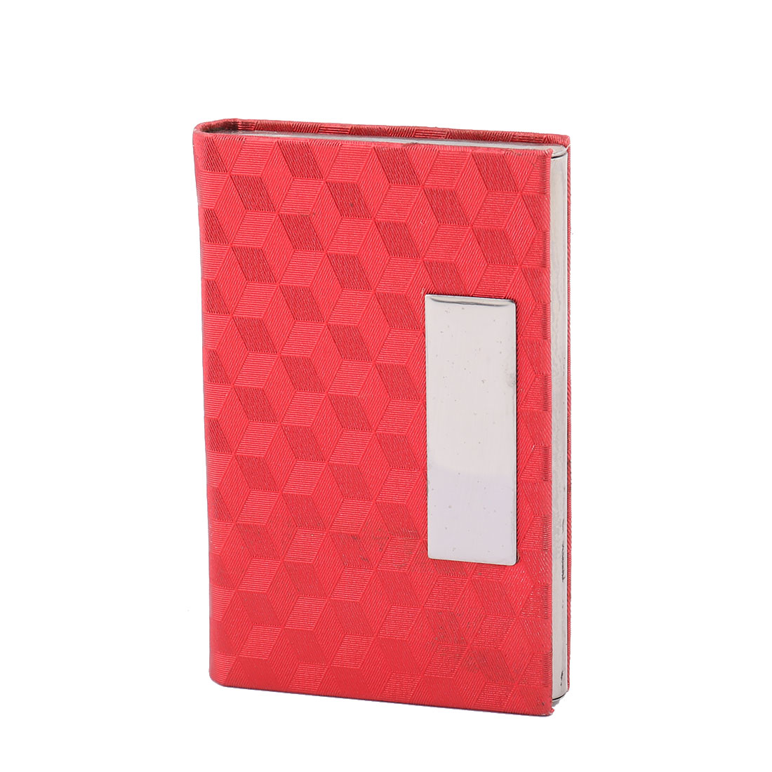 Office Worker Magnetic Shut Business ID Card Case Holder Organizer Red
