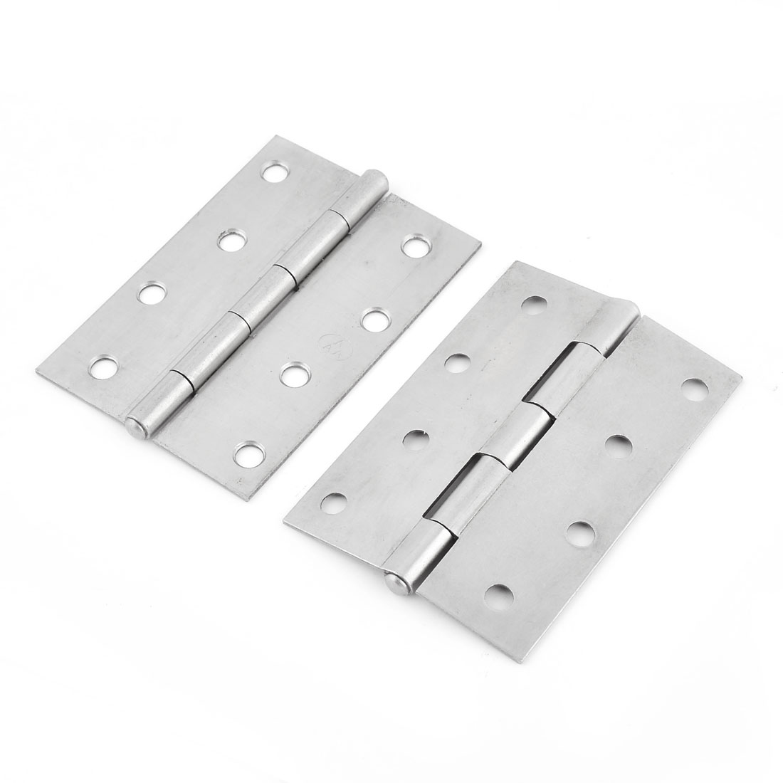 Home Furniture Wardrobe Cabinet 100mm Long Iron Door Butt Hinge Silver Tone 2 PCS