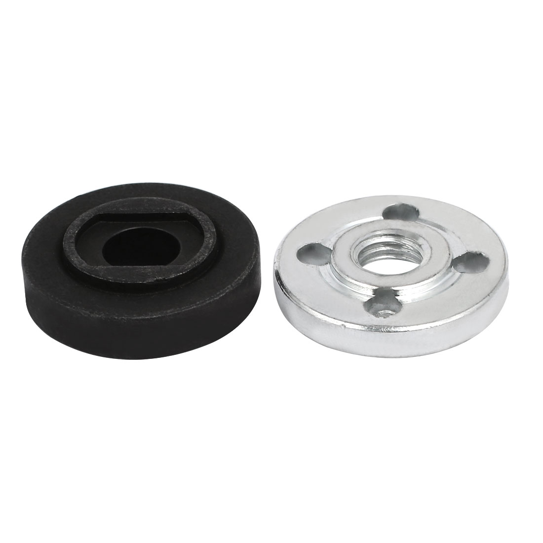 Pair Metal Round Clamp Inner Outer Flange Fixing for Electrical Angle Grinder