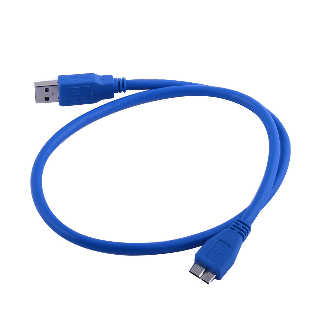Computer USB 3.0 Type A Male to Micro B Male Computer Cable Blue 63cm