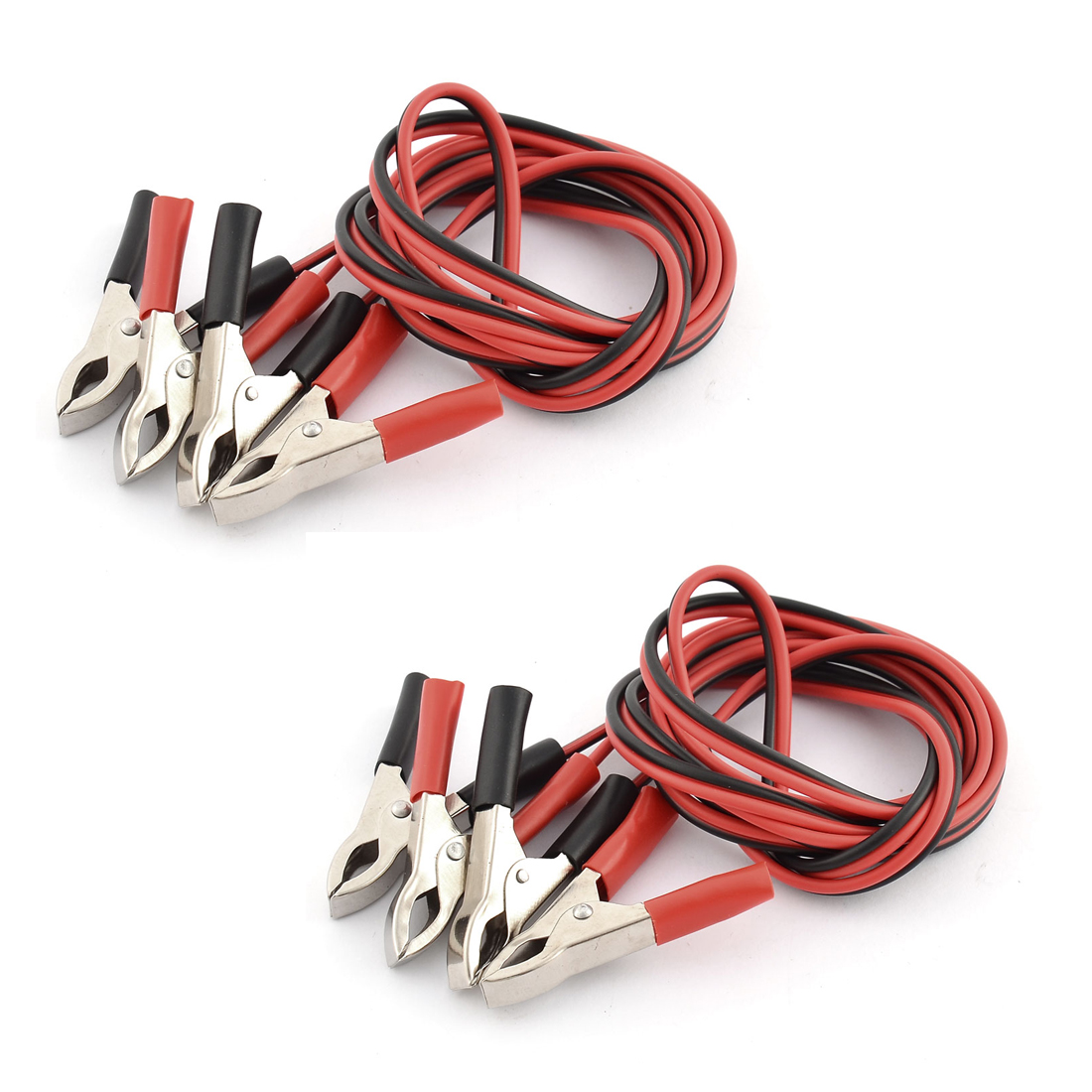 5A Alligator Clip Double Wire Battery Test Booster Jumper Cable 1.5M Long 2pcs