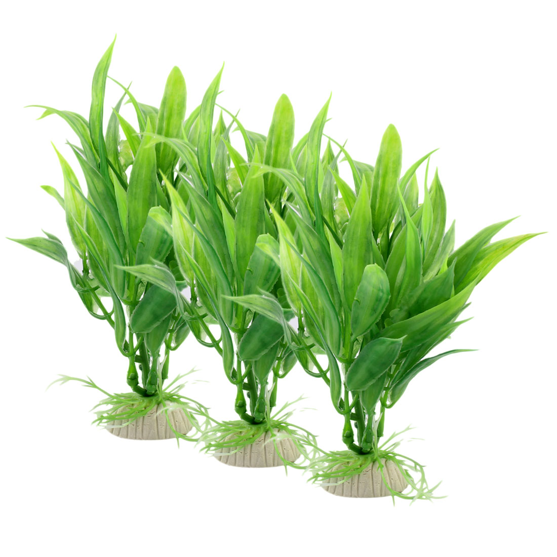 Fish Tank Aquarium Plastic Artificial Water Lucky Bamboo Ornamental Decoration 3pcs