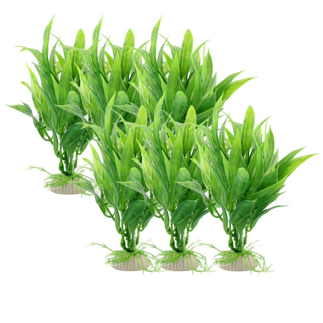 Fish Tank Aquarium Plastic Artificial Water Lucky Bamboo Plant Ornamental Decoration 6pcs
