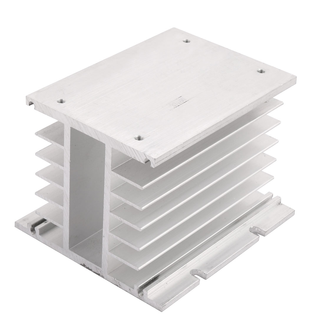 110mmx100mmx80mm Aluminium 3-Phase Solid-State Relay Radiator Silver Tone