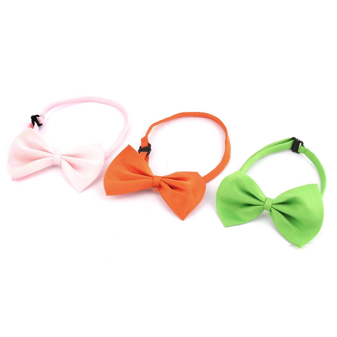 Dog Puppy Pet Adjustable Bowknot Collar Neckwear Neck Bow Tie 3pcs
