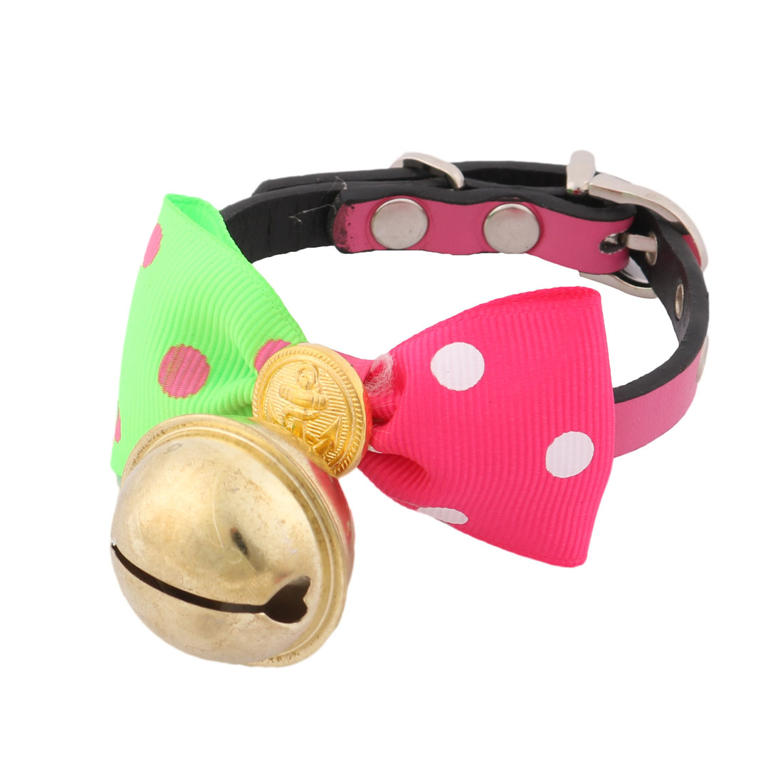 Dog Puppy Pet Dot Pattern Bowknot Single Bell Collar Bowtie Bow Tie