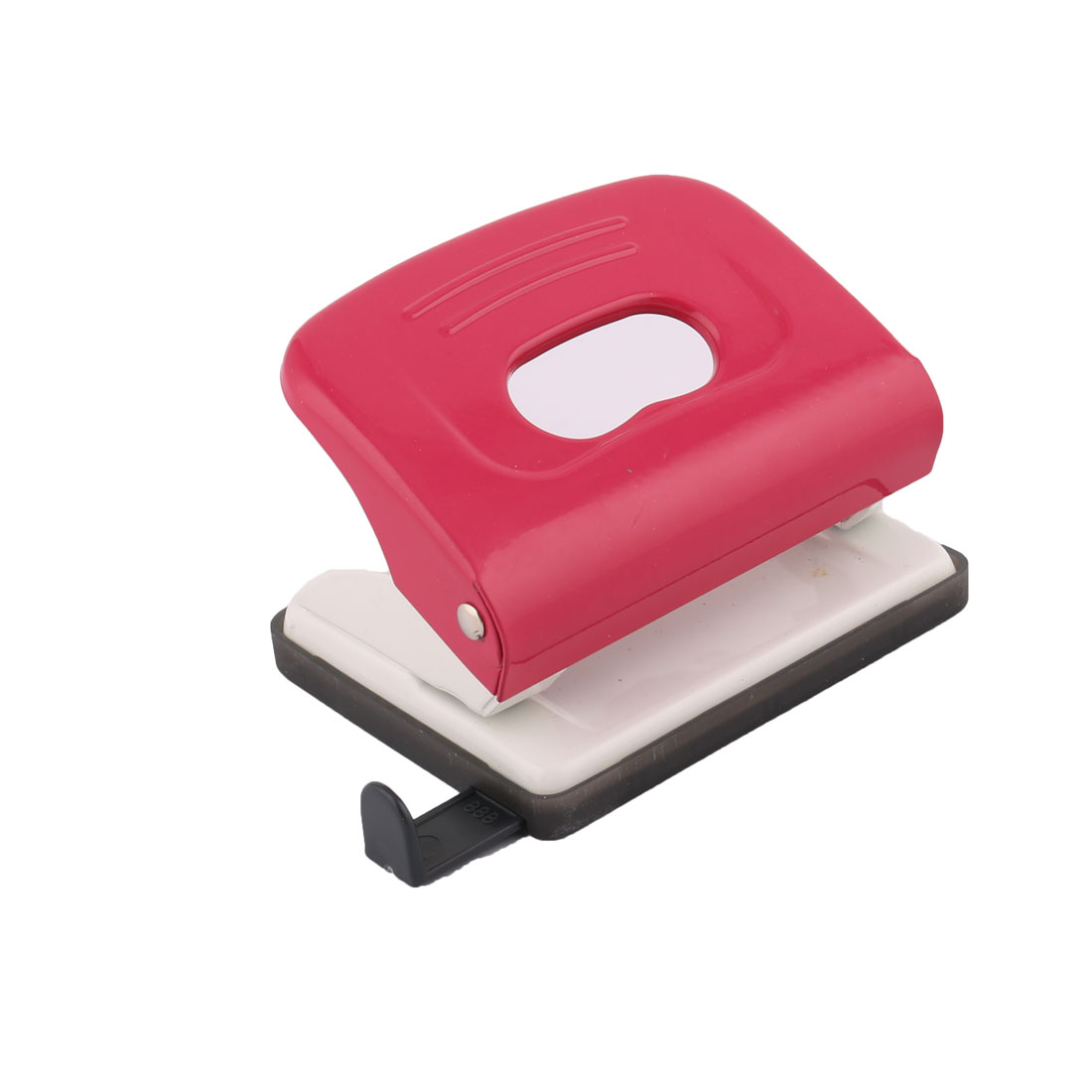 Home Office 2 Hole 5mm Dia Hole 20 Sheet Capacity File Paper Punch Puncher Fuchsia