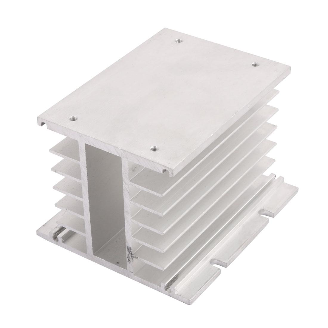 100mmx80mmx110mmmm Aluminium Heats Dissipate Cooling Fin Cooler Silver Tone