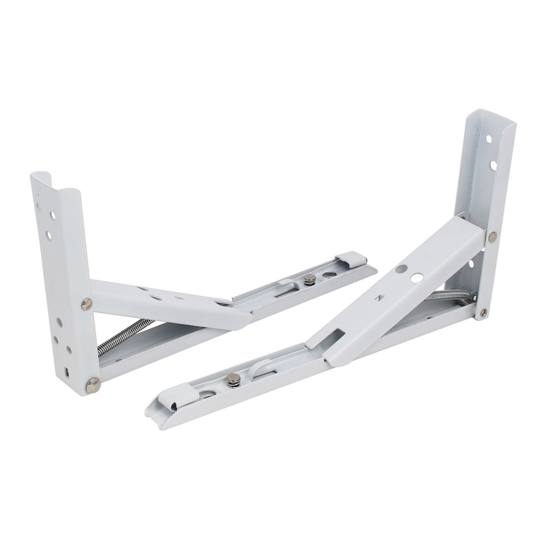 10'' Length Right Angle Spring Loaded Folding Shelf Support Bracket Brace 2pcs