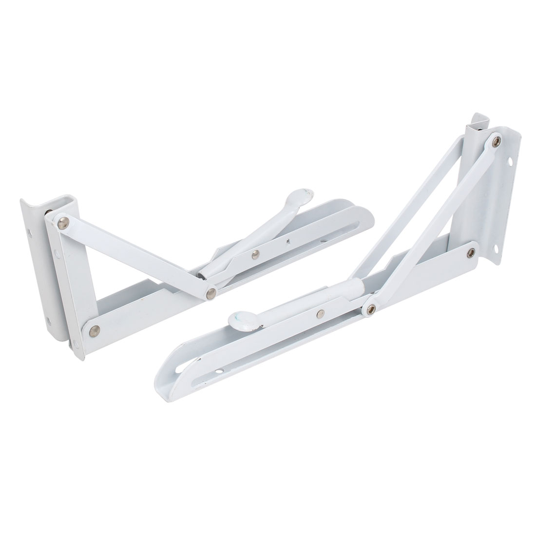 10'' Length Wall Mounted Spring Loaded Folding Shelf Support Bracket Brace 2pcs