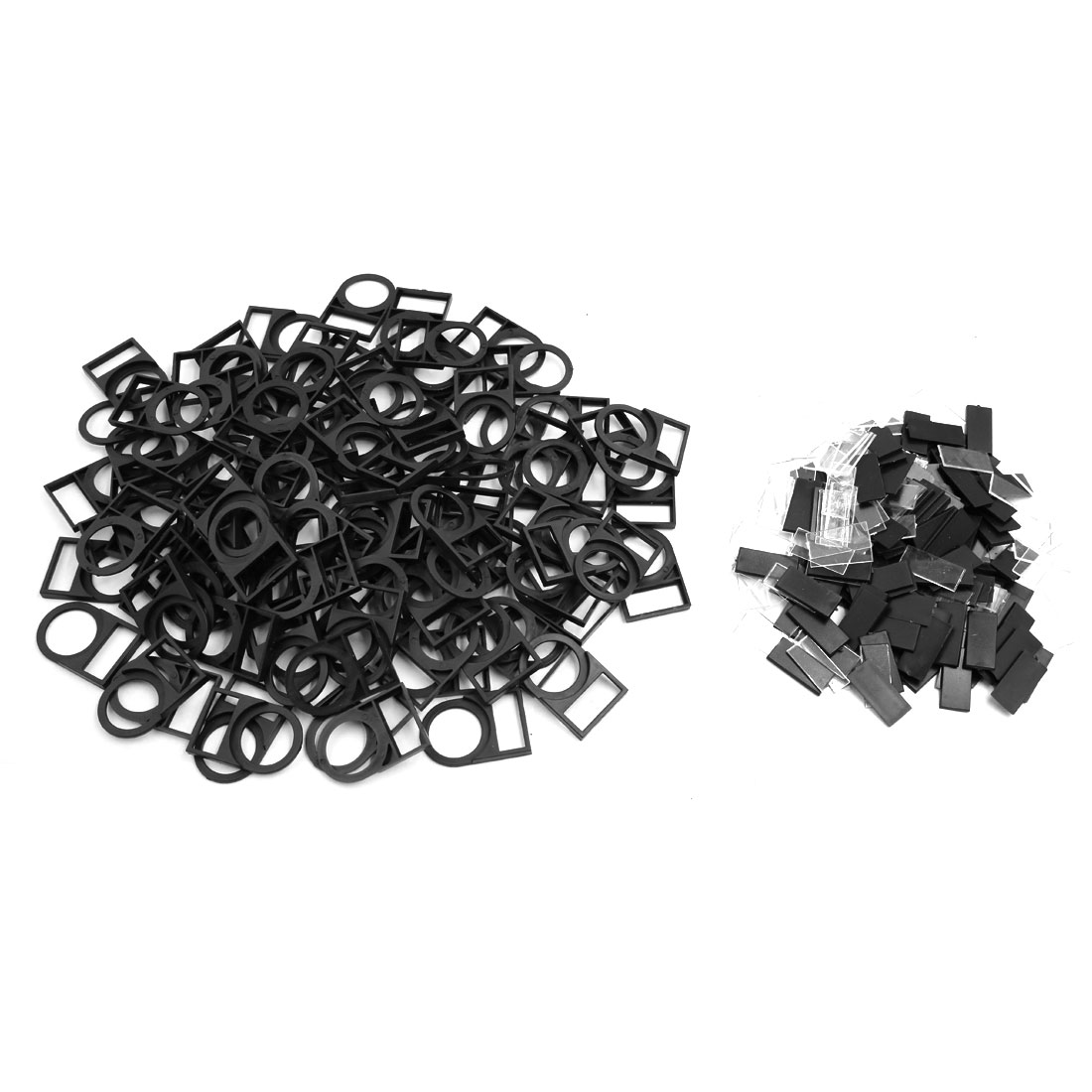 100pcs Black Plastic 22mm Dia Push Button Switch Protector Panel Label Frame