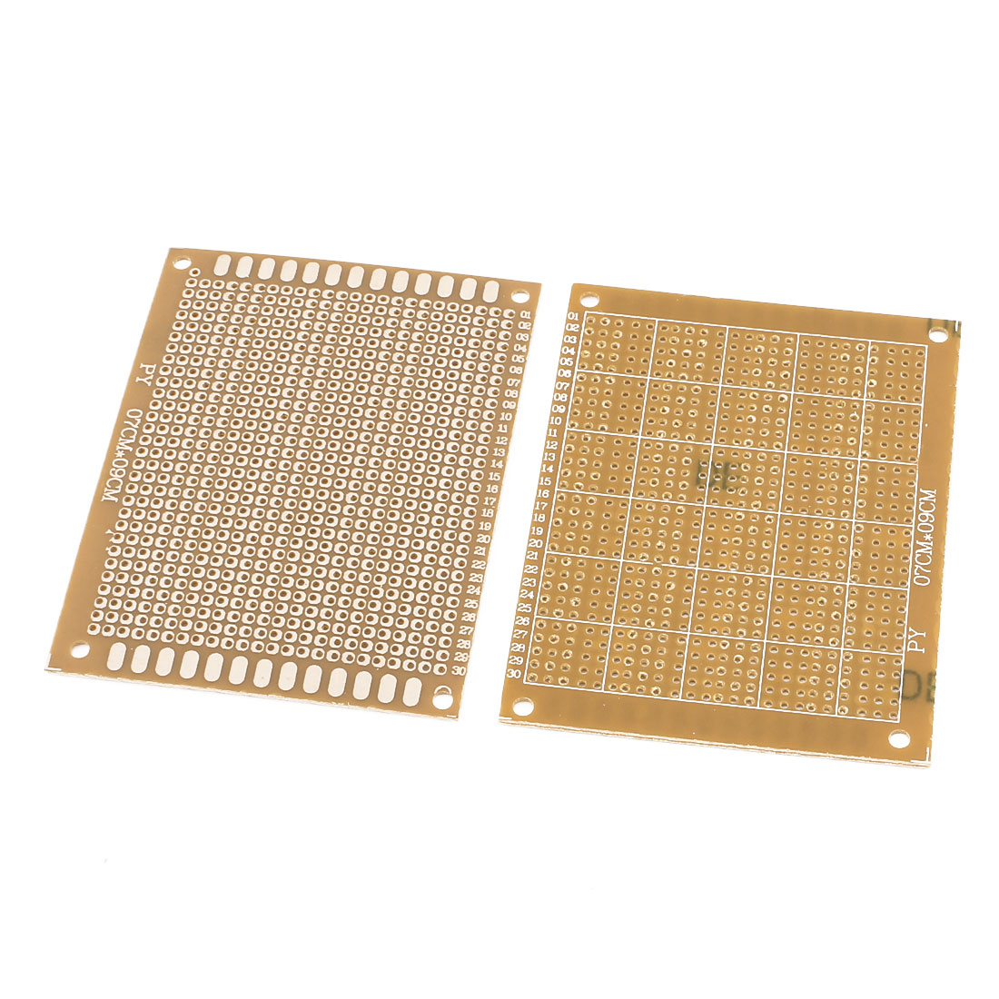 2 Pcs Single Sided Prototype Solderable Paper Universal PCB Board 9x7cm