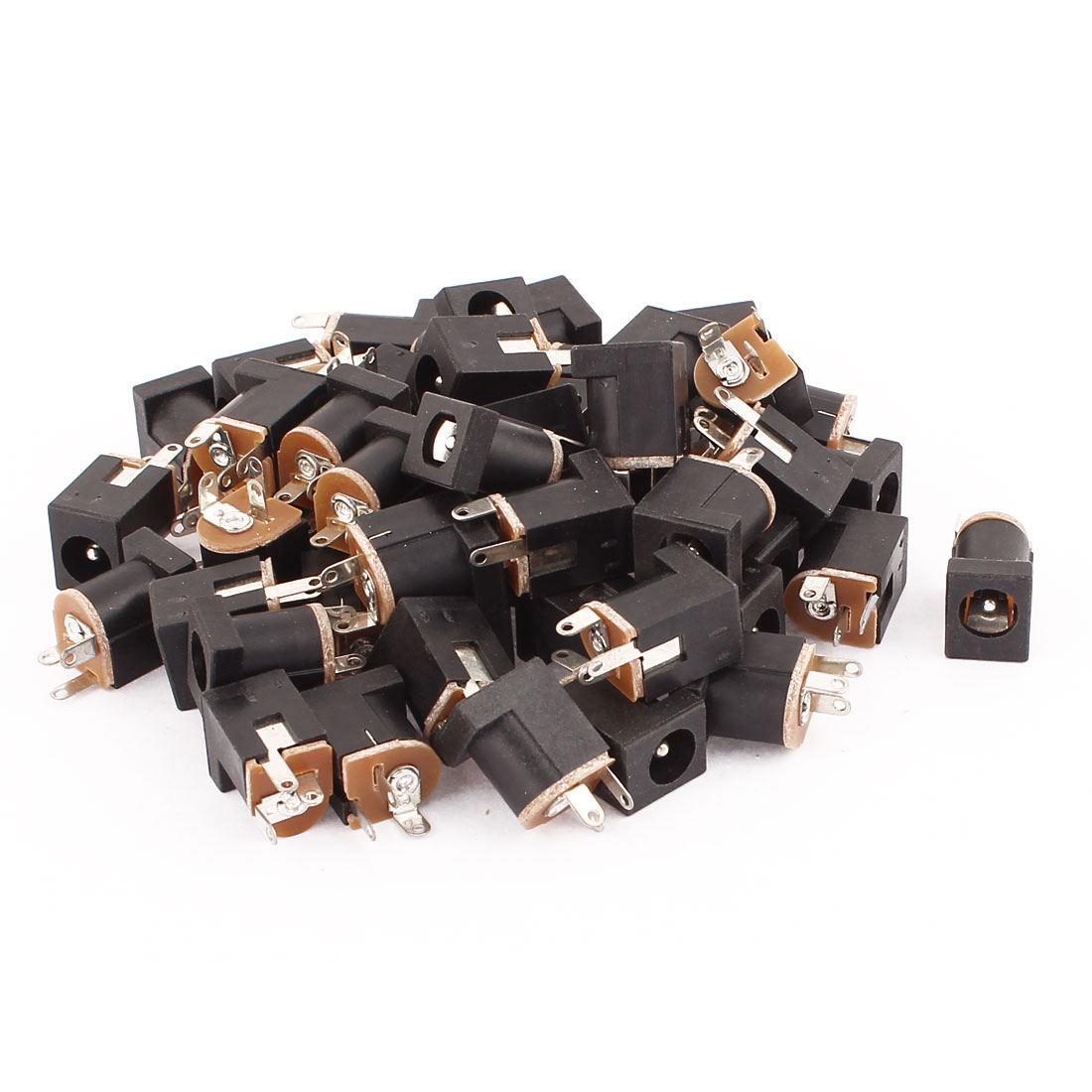 50 Pcs 3 Pin 2.1 x 5.5mm DC Power Jack Socket PCB Mount Panel Solder Connector
