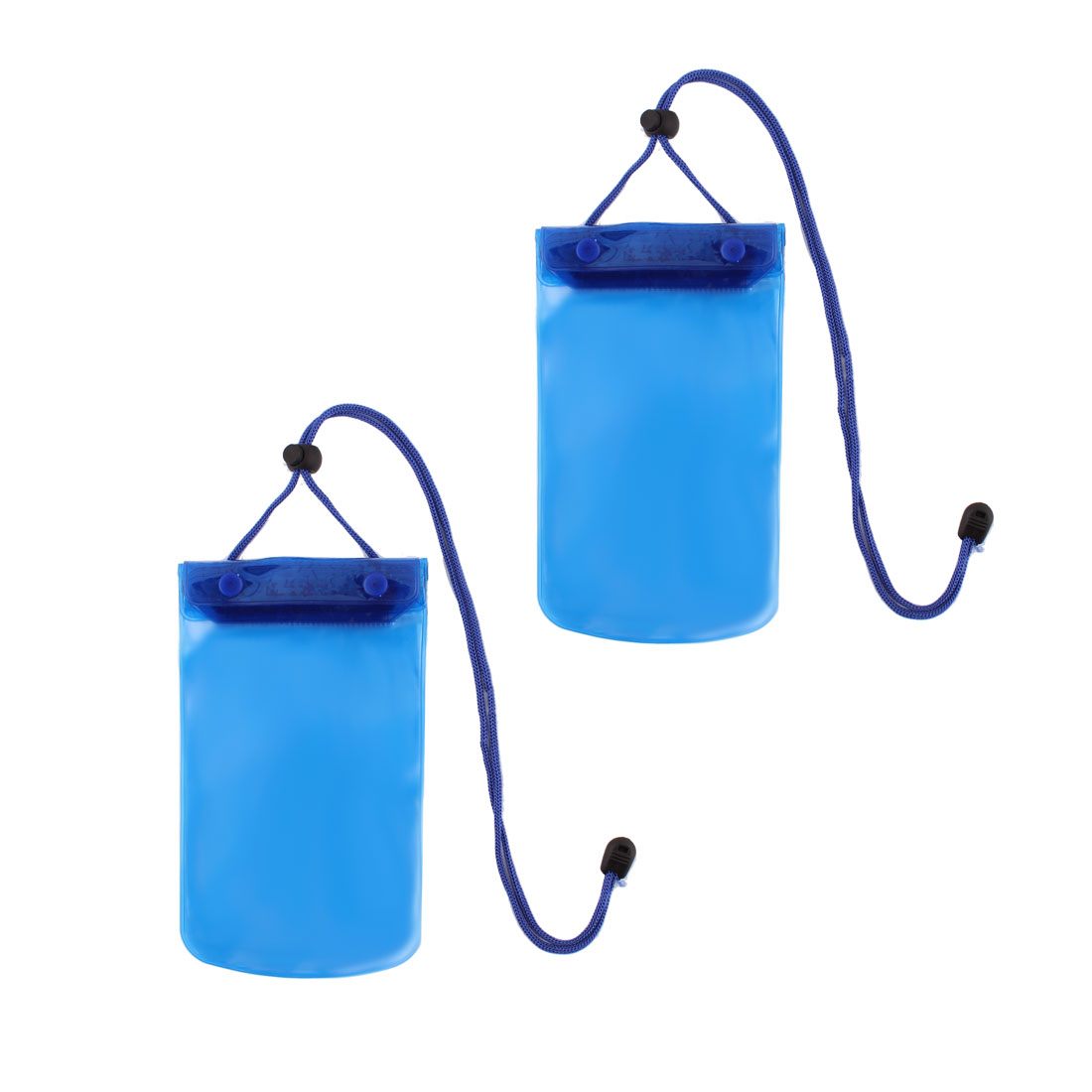 Outdoor Surfing Swimming Phone PVC Water Resistant Bag Holder Pouch Blue 2 Pcs