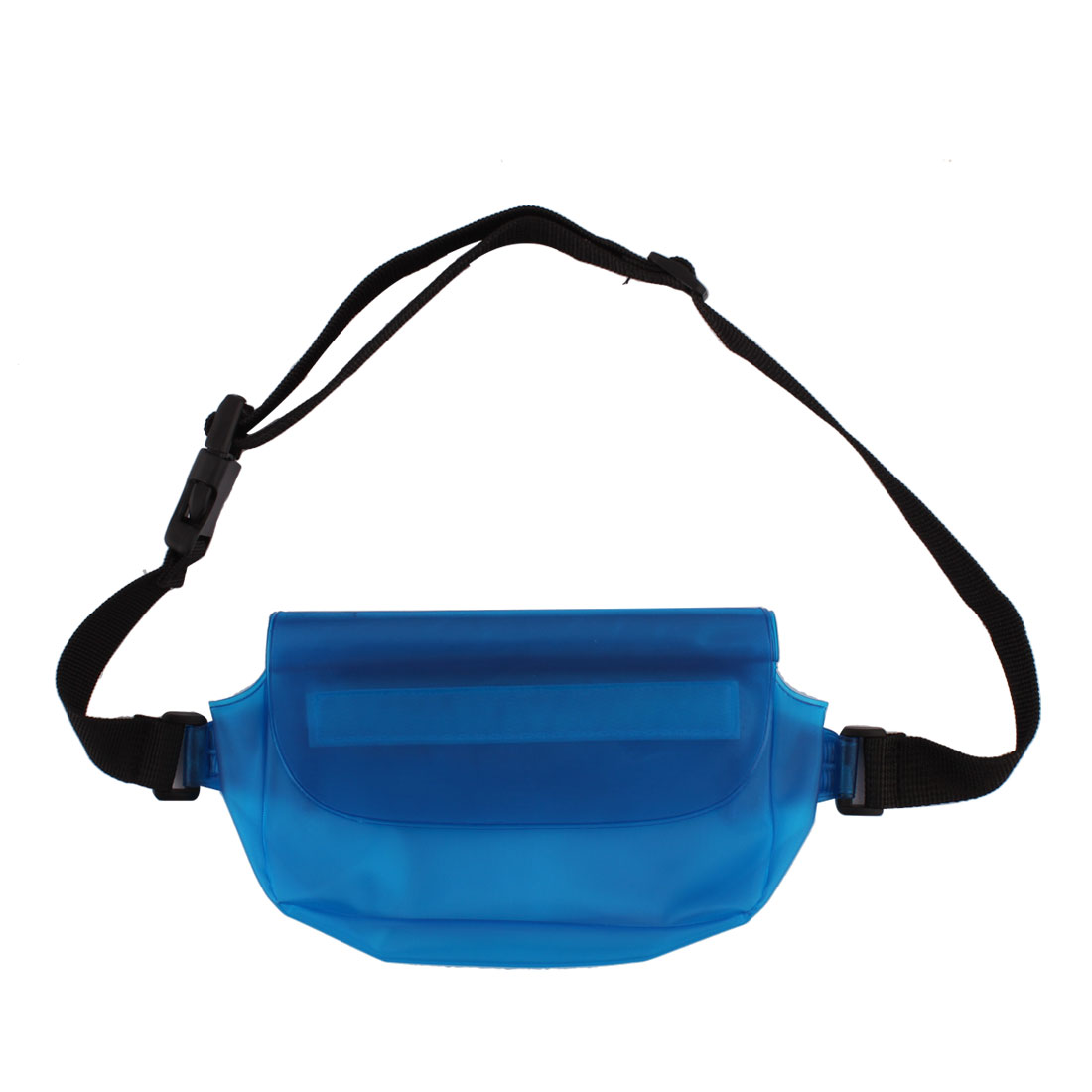 PVC Water Resistant Waist Pack Bag Pocket Phone Holder Protector Blue