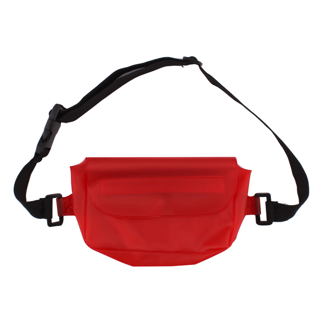 PVC Water Resistant Dustproof Waist Pack Bag Phone Holder Protector Red