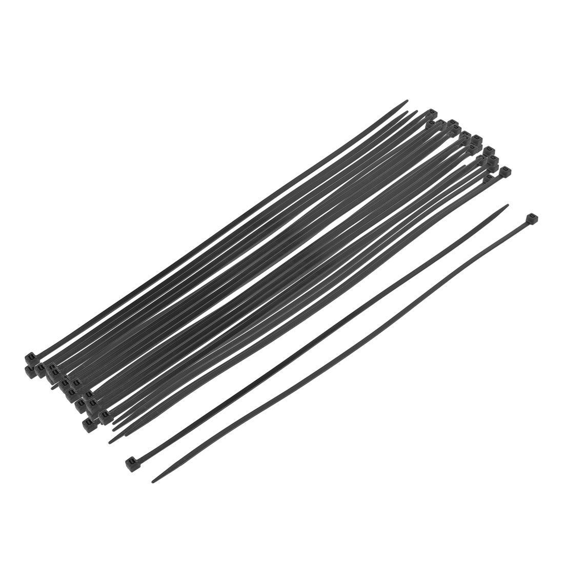 35 pcs Black Self-Locking Nylon Wire Cable Zip Ties Cord Strap Wrap 3 x 295mm