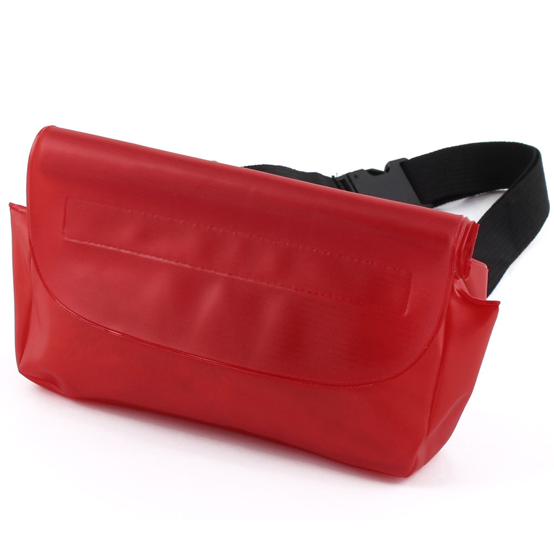 "8.6"" Height PVC Super Waterproof Unisex Multi-Purpose Red Waist Bag With Belt"
