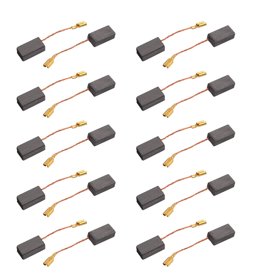 10Pairs 15mmx7.8mmx4.7mm Carbon Brushes Power Tool for Electric Hammer Drill Motor