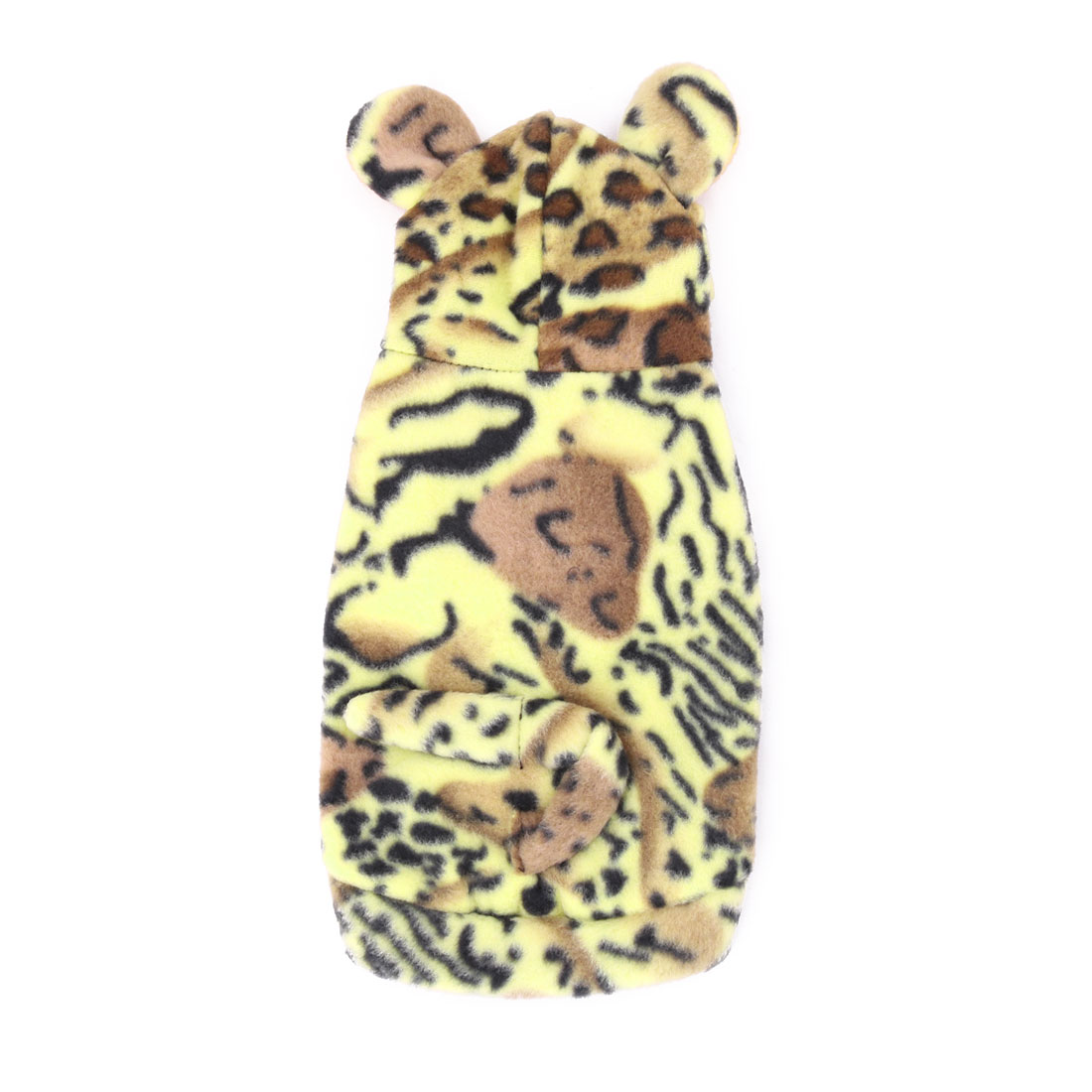 Pet Dog Doggy Cotton Blends Tiger Skin Pattern Clothes Coat Yellow Black
