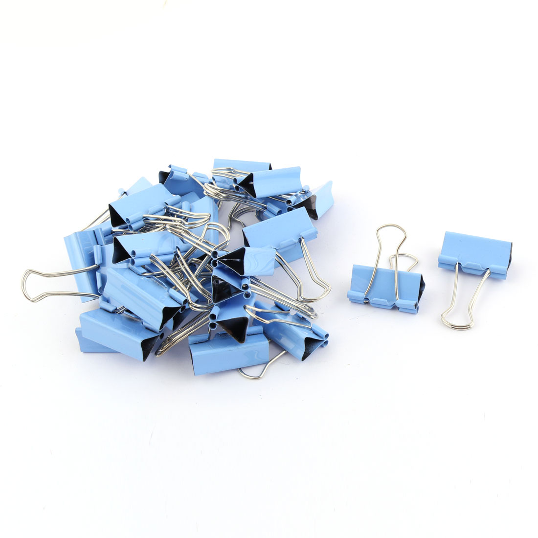 School Office Home Metal Document Test Paper Organizer Binder Clips Blue 28 Pcs