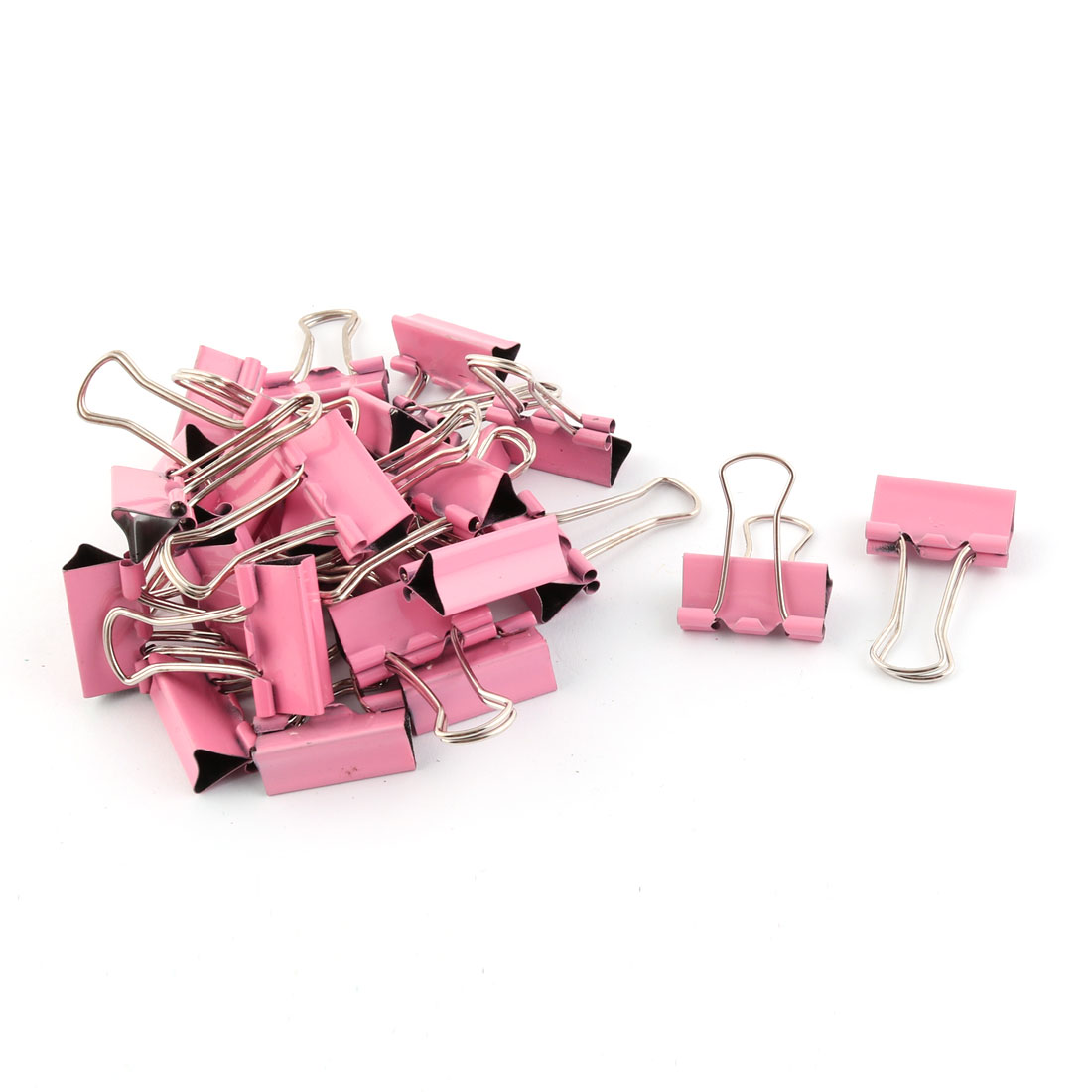 School Office Metal Test Paper File Organizer Binder Clips Pink 28 Pcs