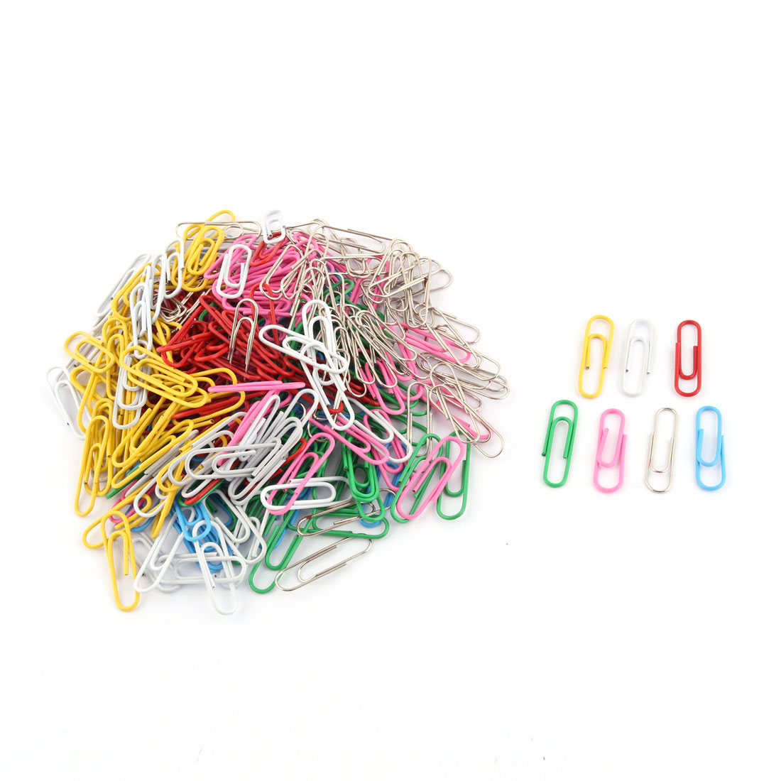 Office School Plastic Coated Metal Label Bookmark Paper Clips Clamps Assorted Color 280 Pcs