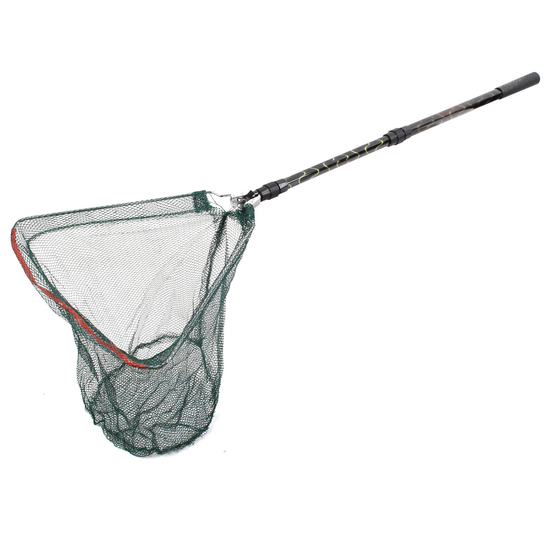 Fisherman Telescopic Handle Triangle Design Fishing Folding Fish Landing Net