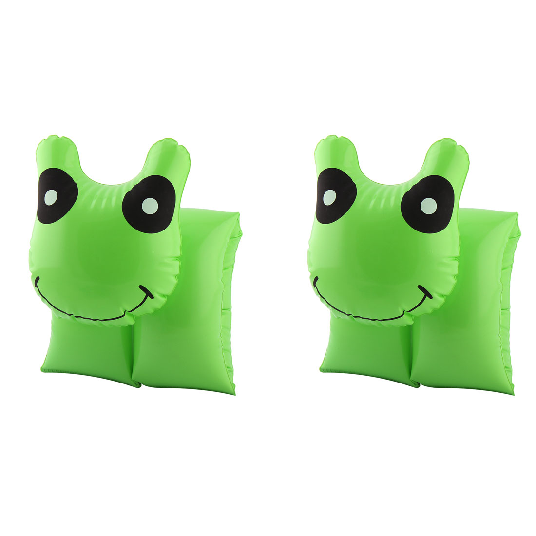 Swimming Float Inflatable Roll Up Smiling Face Pattern Decoration Swim Arm Band Pair