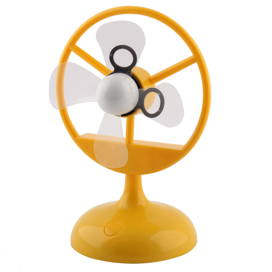 Plastic 4 Fans Round Base USB Mini Cooler Cooling Air Fan for Office Table