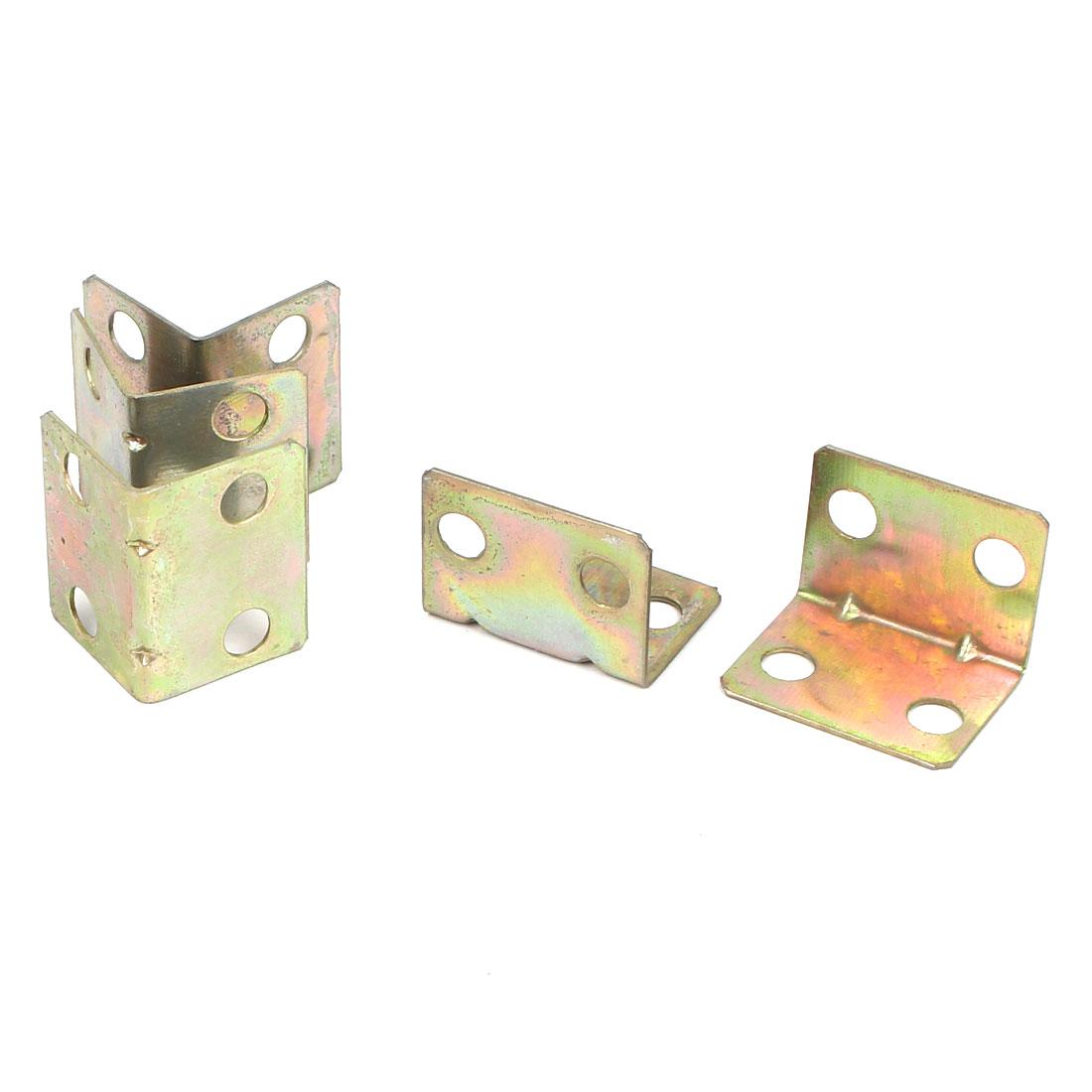 18mmx18mmx23mm L Shape Metal Corner Brace Angle Bracket 0.5mm Thickness 5pcs