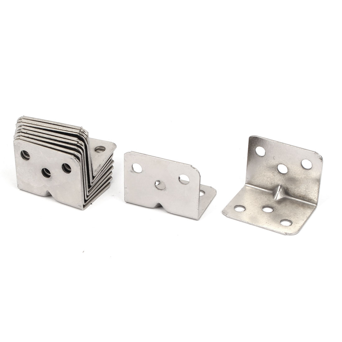 10pcs 28mmx28mm Stainless Steel Corner Brace Right Angle Bracket 1mm Thickness