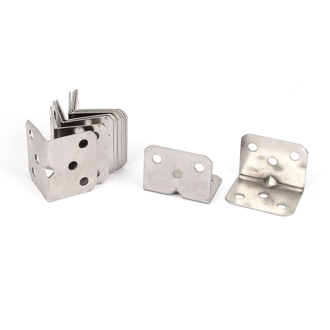 10pcs 27x27x36mm Stainless Steel Corner Brace Right Angle Bracket 1mm Thickness