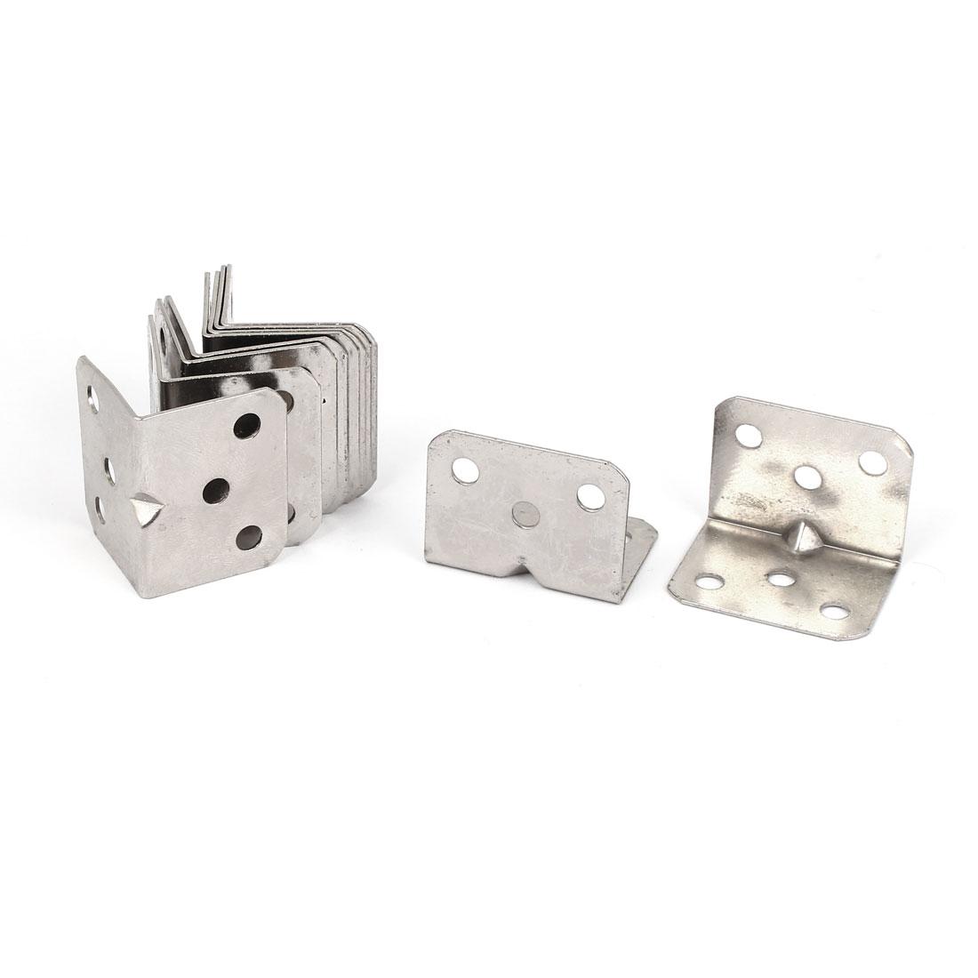 10pcs 27x27x36mm Stainless Steel Corner Brace Right Angle Bracket 1mm Thickness