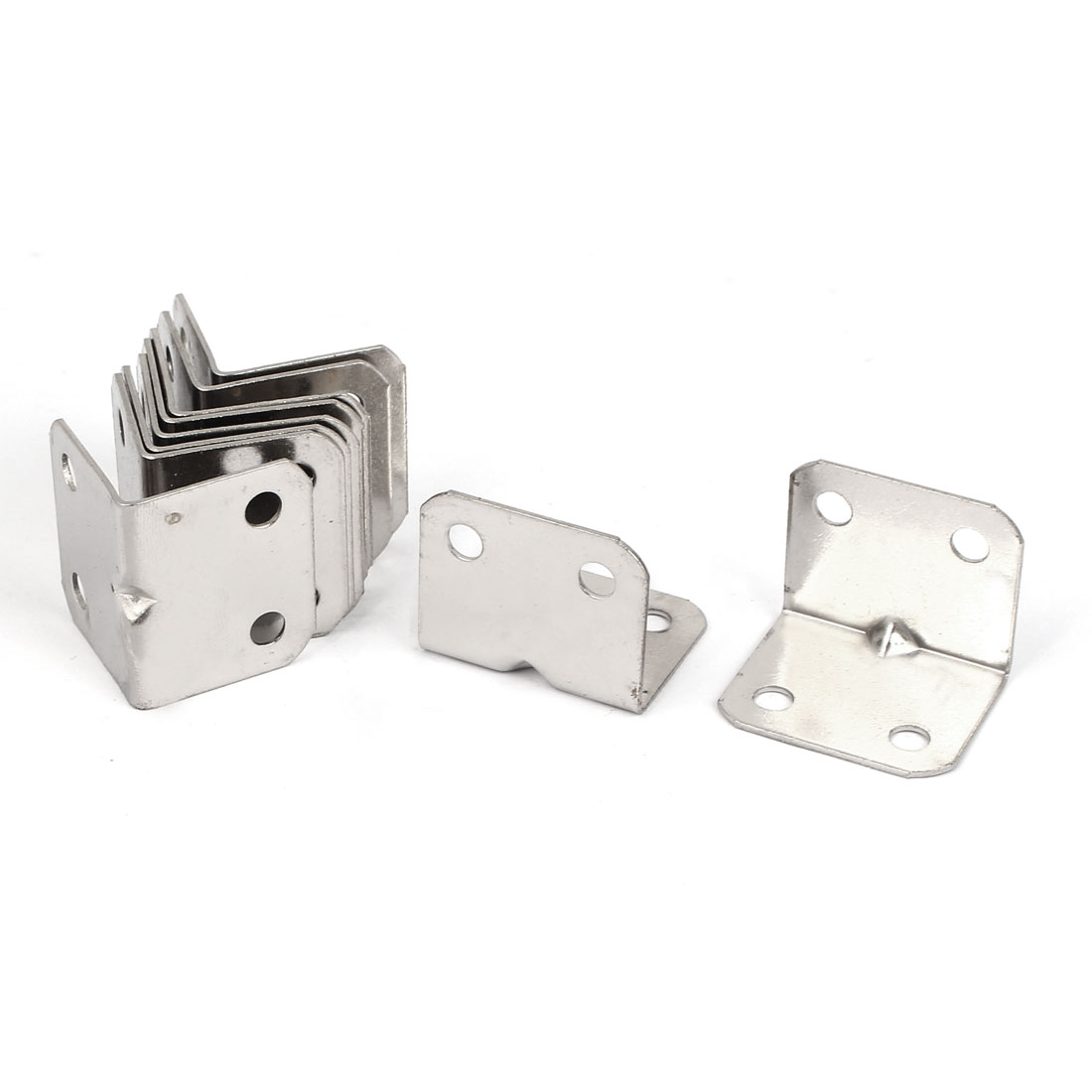 10pcs 25x25x31mm Stainless Steel Corner Brace Right Angle Bracket 1mm Thickness