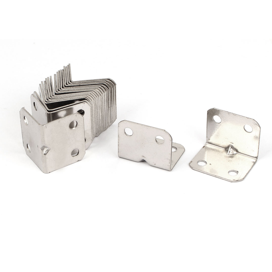 20pcs 25x25x31mm Stainless Steel Corner Brace Right Angle Bracket 1mm Thickness