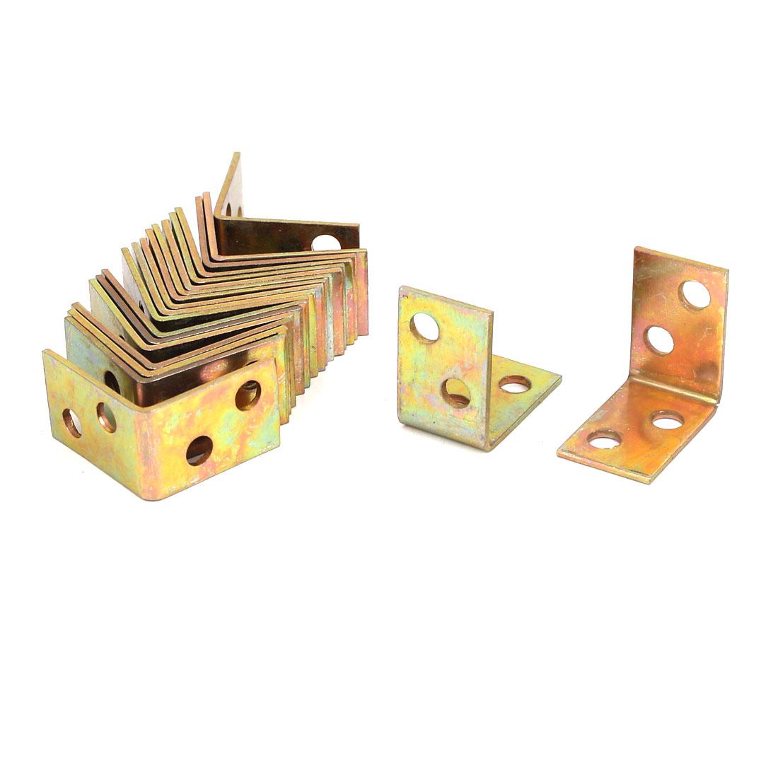 25mmx25mmx16mm 4 Holes Metal Corner Brace Joint Right Angle Bracket Support 20pcs