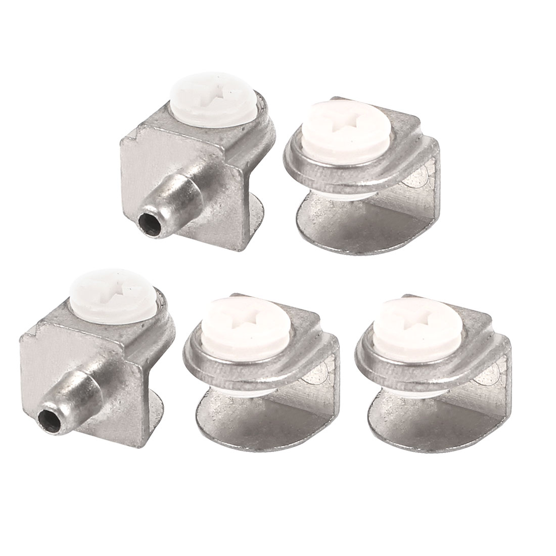 Adjustable 3mm-8mm Thick Half Round Glass Shelf Bracket Clamps Clip Holder 5pcs
