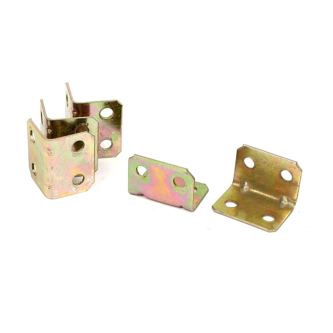 18mmx18mmx24mm Metal Corner Brace Right Angle Bracket 1mm Thickness 5pcs
