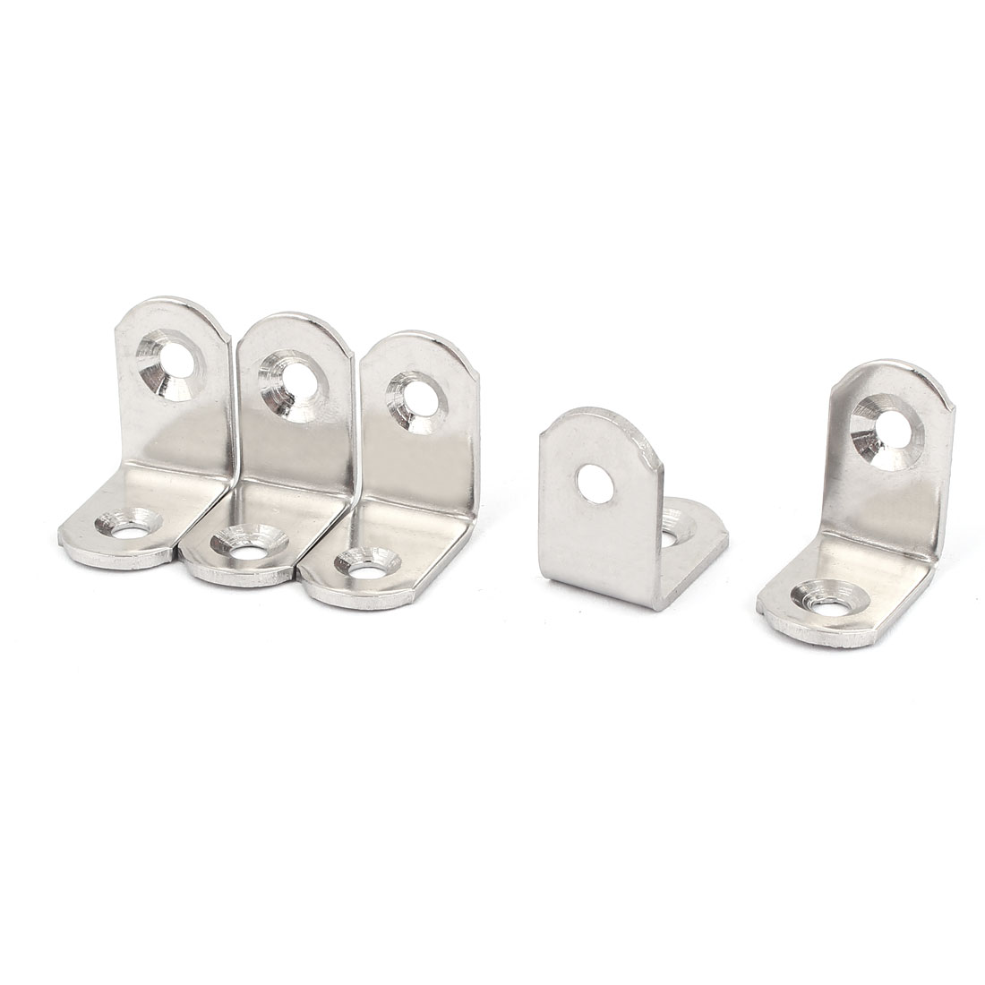 25mm x 25mm Stainless Steel L Shape Corner Brace Joint Right Angle Bracket 5pcs